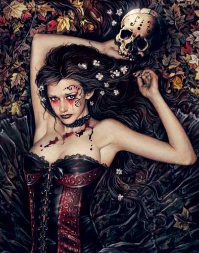 Skull Girl Victoria Frances Poster
