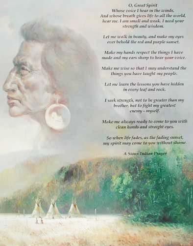 Weisheit, A Sioux Indian Prayer