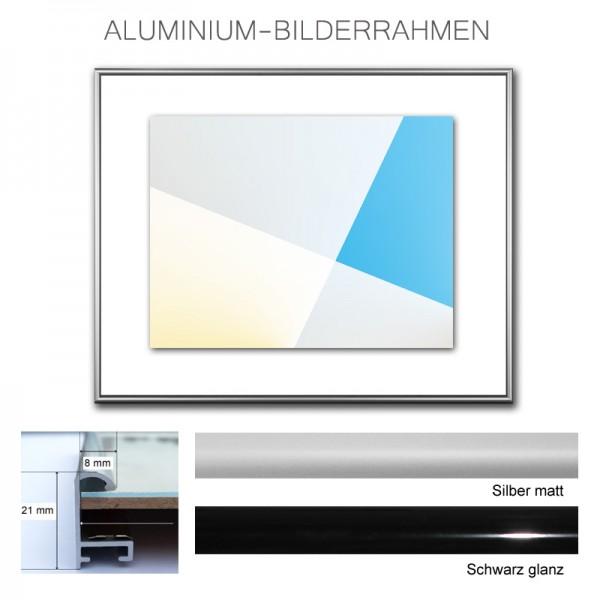 Alurahmen 25x40 / 40x25 cm schwarz, silber