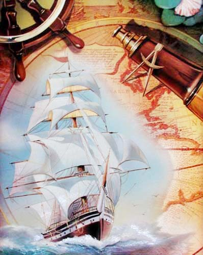 Segelschiff, Klipper Alu Poster