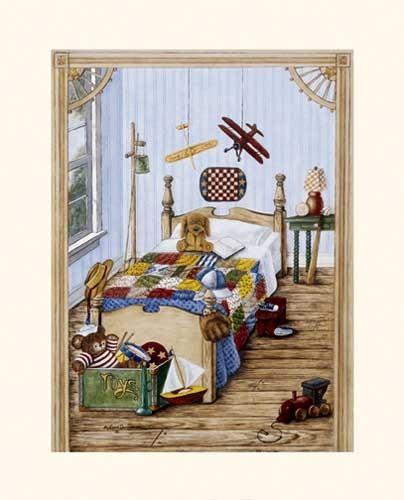 Jungen Kinderzimmer Kunstdruck