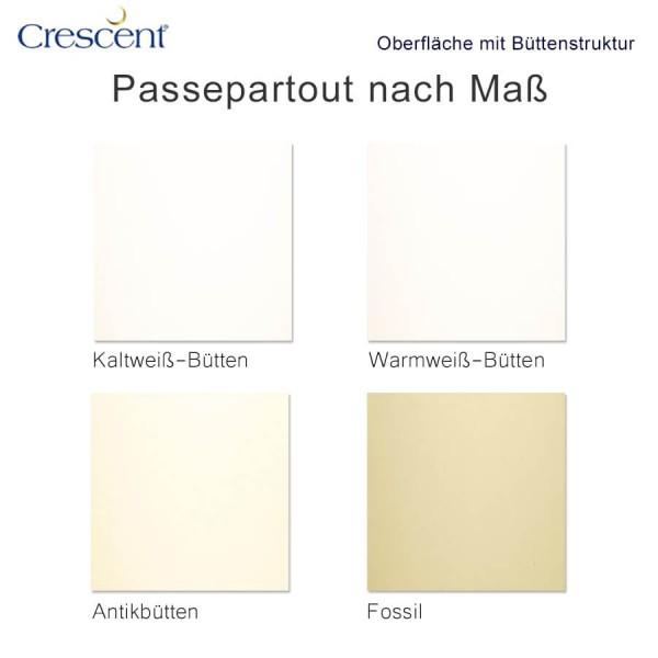 Crescent Passepartout mit Büttenstruktur nach Maß