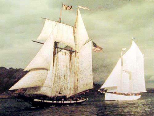 Segelschiff - Pride of Baltimore Alu Druck