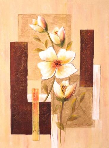 Flores Sobre Abstracto II, Manuel Luna