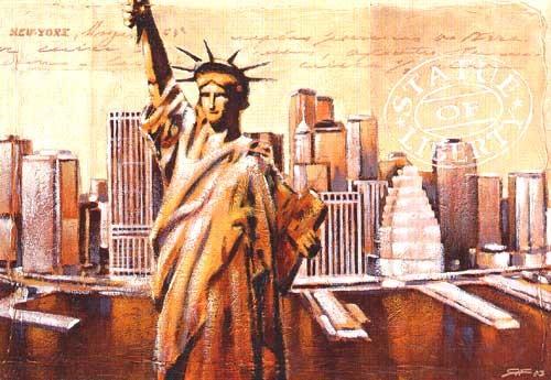 """Reproduktion """"Statue of Liberty"""" von Raul Fischer Kunstdruck 70x100 cm"""