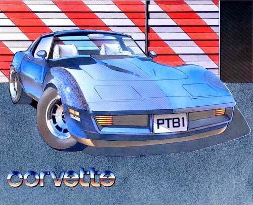 Corvette blau
