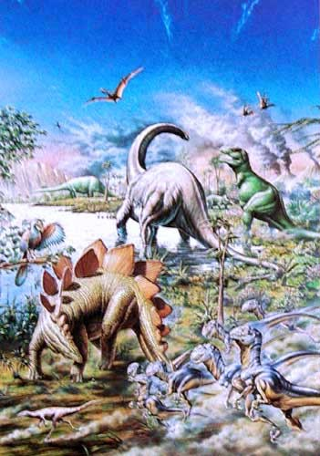 Dinosaurier Aluminium Druck