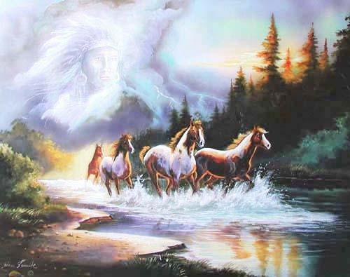 Häuptling und Pferde by Gina Femrite
