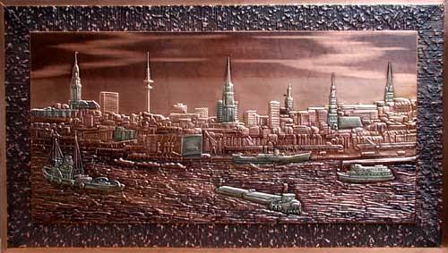 Hamburger Hafen Kupferbild