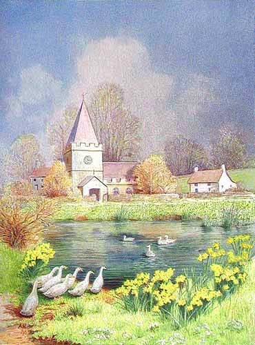 Dorfkirche Aludruck 16x21