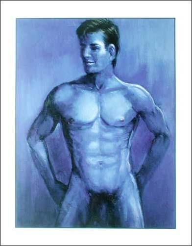 Akt, Mann in Blau II by Leonardo *