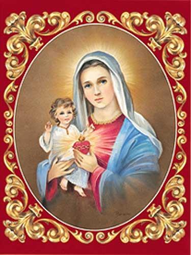 Heilige Maria mit Jesus Bild