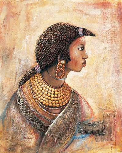 Afrikanische Frau mit Schmuck Bild