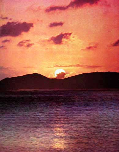 Sunset, Cinnamon Bay, St. John Virgin Island