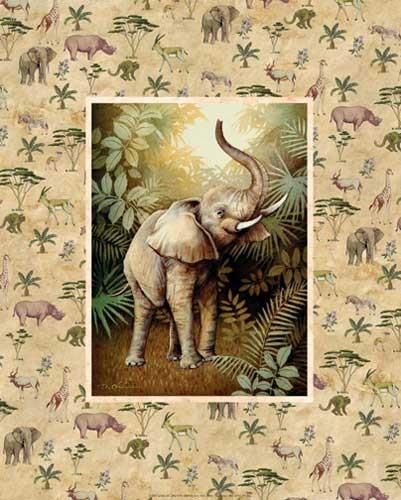 Safari - Elefant Kunstdruck 20x25 cm