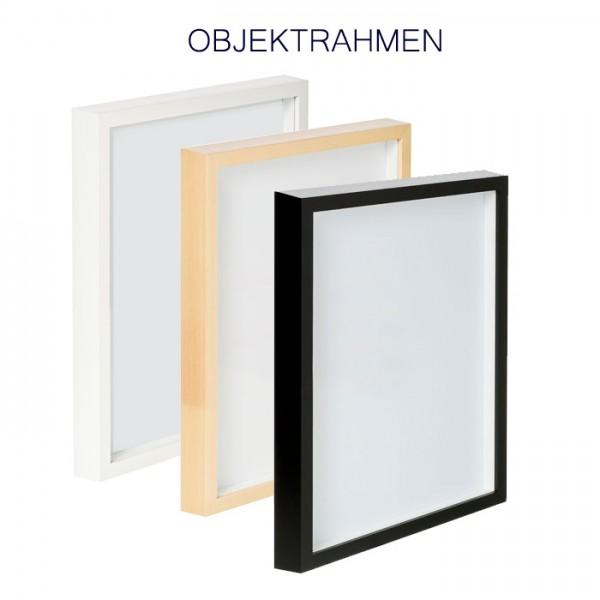 Objektrahmen 3-D Rahmen 60x80 cm Linde, weiß und schwarz
