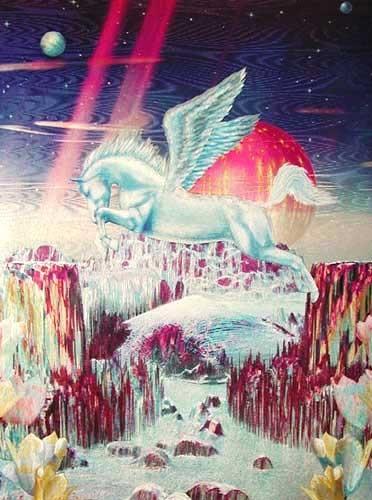 Fliegender Pegasus Alu Druck