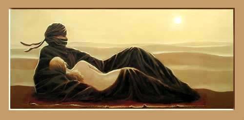 Tuareg, Wüstentraum Kunstdruck