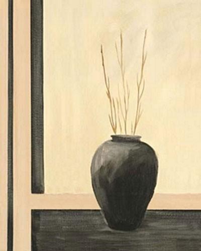 Stilleben, Schwarze Vase