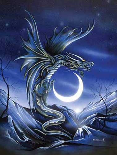 Monddrache/ Moon Dragon Alu Bild
