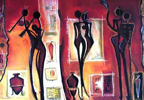 Abstrakte, afrikanische Kunst Bild