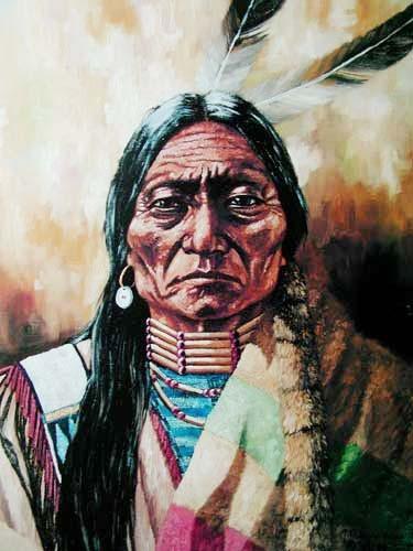 Indianer Portrait by J.T. Vogtschmidt