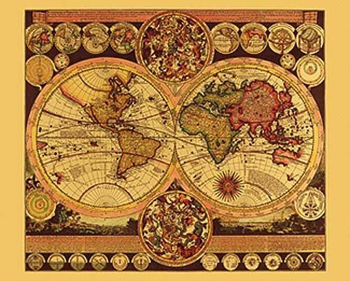 Weltkarte von Peter Schenk Bild