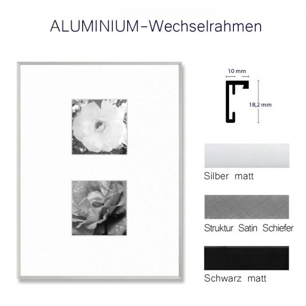 Aluminium-Urkundenrahmen DIN A4 in Silber, Grau, Schwarz matt