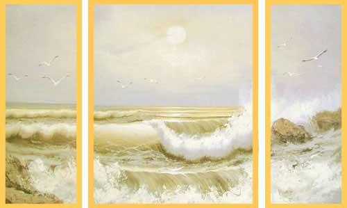 Wandbild Meer, Brandung