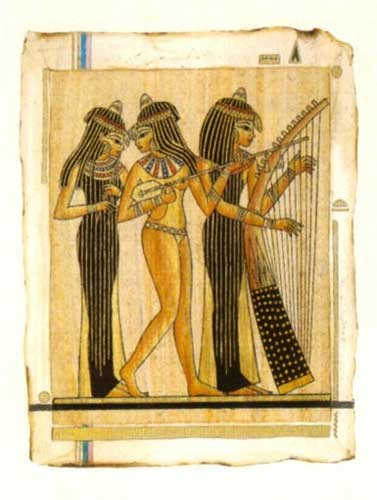 Drei Musikantinen - Ägyptische Kunst - Poster