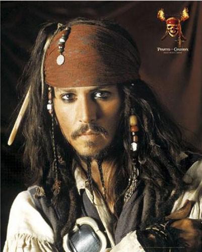 Johnny Depp, Fluch der Karibik- Poster