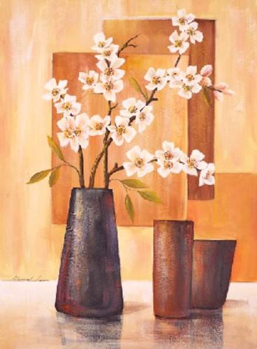 Flores Sobre Abstracto III, Manuel Luna