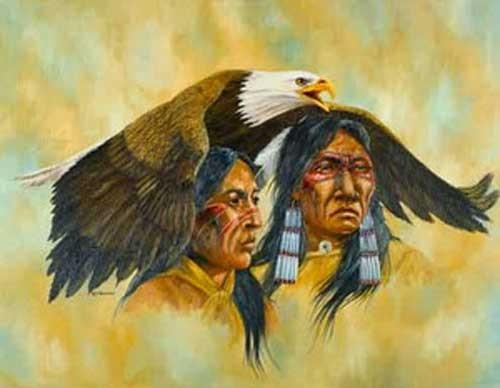 Indianer und Adler by J.T.Vogtschmidt