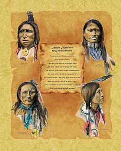 Native American 10 Indian Commandments