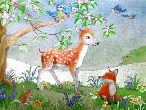 Bambi und Fuchs