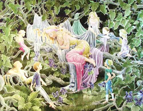 Magic Forest Alu Bild