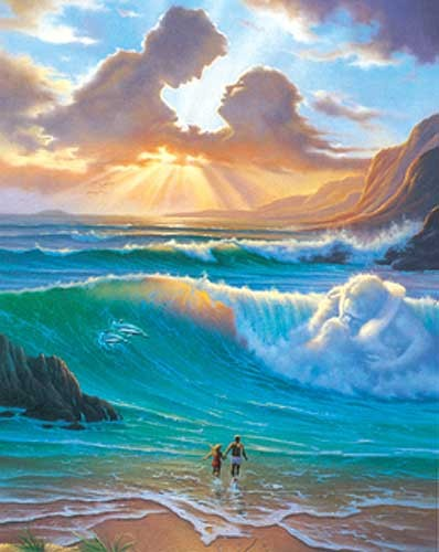 Sonnenuntergang am Meer Alubild 21x26