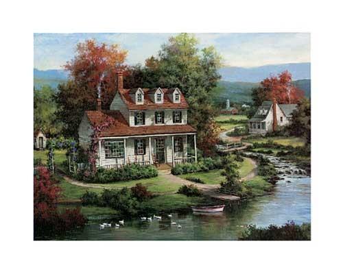 Haus am See, Chiu Kunstdruck 20x25 cm