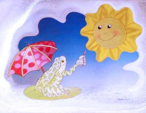 Frosch und Sonne