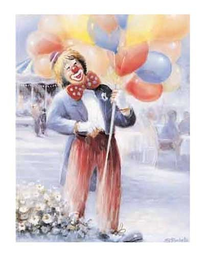 Clown und Luftballons Poster
