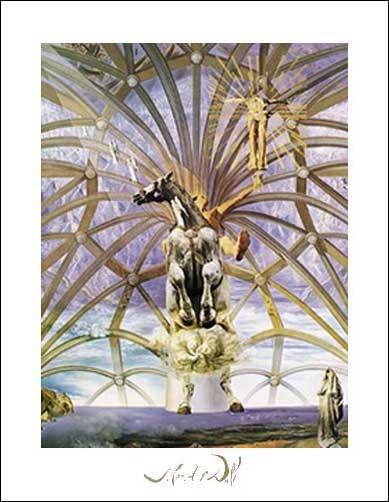 Kunstdruck / Poster 40x50 cm: Santiago el Grande, Dali Salvador