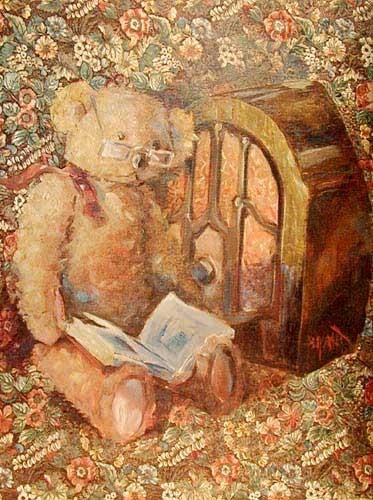 Teddy und Buch