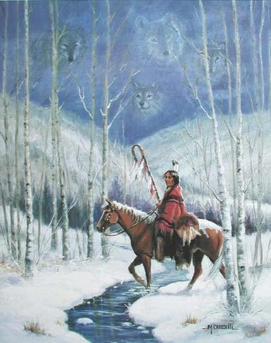 Indianer auf dem Pferd by M.Caroselli