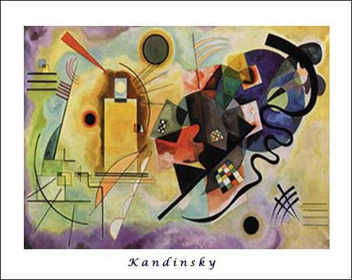 """Reproduktion """"Rot, Gelb Blau"""" von Wassily Kandinsky Kunstdruck 70x100 cm"""