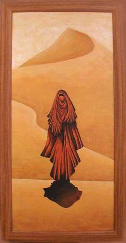 Tuareg vor Sanddüne Wandbild