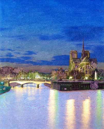 Notre-Dame und die Seine Alubild