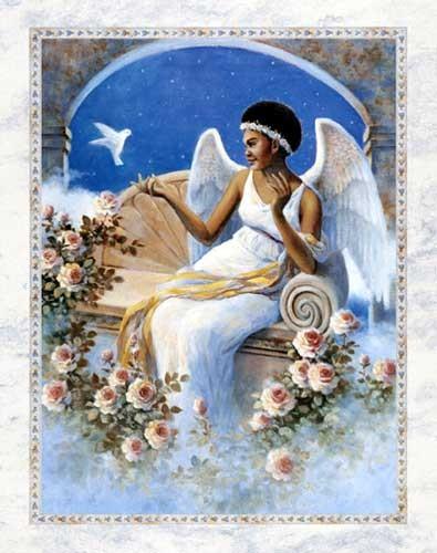 Engel und Taube