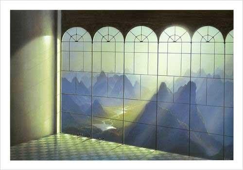 Kunstdruck 70x100 cm: Belvedere von Sahm Hans-Werner