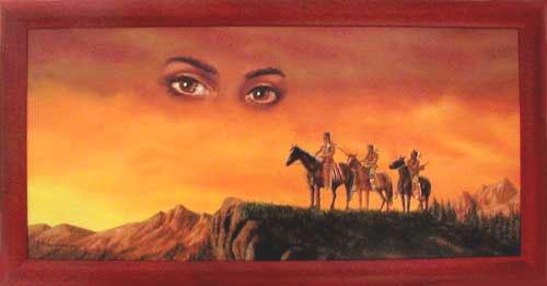 Indianer Vision II Wandbild 40x77 cm