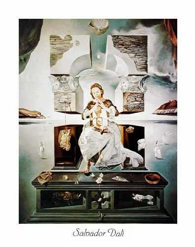 Kunstdruck 40x50 cm: La Madone de Port Lligat, Dali Salvador